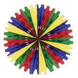 Green, Red, Blue, and Canary 25 Tissue Fan
