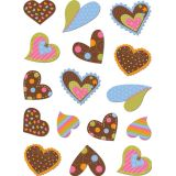 Dots on Chocolate Hearts Stickers