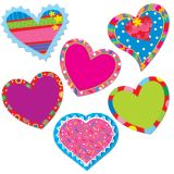 Poppin' Patterns Happy Hearts 6 Designer Cut-Outs