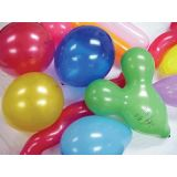 Balloons, 12 yellow crystal, 100/pack