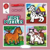 A Set of 3 First Puzzles: Animals