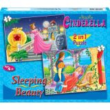 Cinderella and The Sleeping Beauty 2 in 1 Puzzle