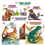 Stick-On Coloring Books, One each of all 6 titles