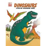 Dinosaurs Stick-On Coloring Book
