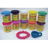 Dough 5 oz. containers, Set of 3 assorted colors.