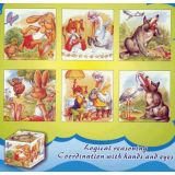 6 in 1 Cube Puzzles, Bunny & Wolf