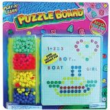 Play-N-Learn Puzzle Board, Pegboard & Pegs