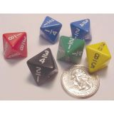 Fraction Dice 8 Sided, 6 each