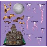 Haunted House & Night Sky Props