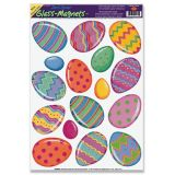Color Bright Eggs Window Clings