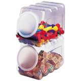 Interlocking Storage Containers with Lids