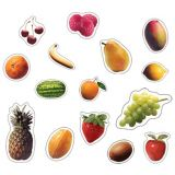 Fruit Photographic, Realistic Shape Stickers