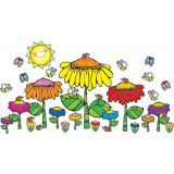 Flower Garden Bulletin Board Set