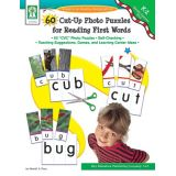 60 Cut-Up Photo Puzzles for Reading First Words