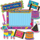 Poppin' Patterns Birthday Bulletin Board Set