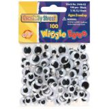 Movable Oval Eyes, Black, 10mm, 144/pack