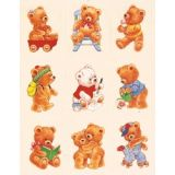 Stickers, Fuzzy Bears