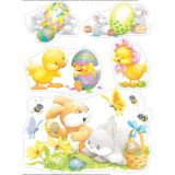 Bunnies and Chicks Window Clings