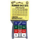 Number Dice Set, Set of 12