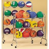 Portable Ball Rack, Holds 16 Balls on 4 Tiers