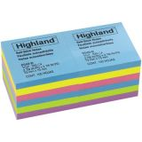 Highland™ Self-Stick Removable Notes, 3 x 3, 12 pads