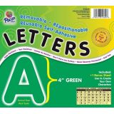 4 Self-Adhesive Letters, Green