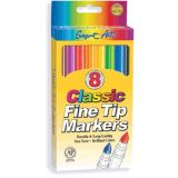 Classic Fine Tip Markers, 8 count