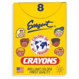Sargent Art Crayons, Multicultural Jumbo 8 count tuck box