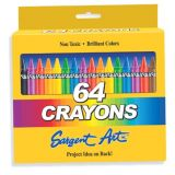 Sargent Art Crayons, 64 count hinged box