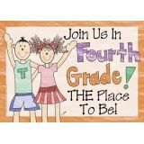 Join Us In 4th Grade Postcards