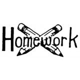 Homework Rubber Stamp