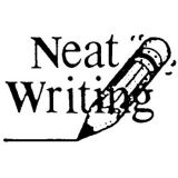 Neat Writing Rubber Stamp