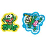 Foil Bright™ Stickers, Funny Frogs