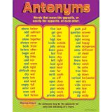 Antonyms, Learning Chart