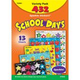 Sparkle Stickers Value Pack, School Days