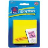 Avery® See-Through Sticky Notes, Yellow, 5 pad per pkg/50 shts per pk