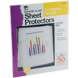 Charles Leonard Top Loading Sheet Protectors, Reduced Glare, 50 sheets
