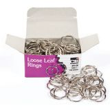 Charles Leonard Loose Leaf Book Rings, 1 Diameter, 100/box