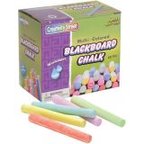 Blackboard Chalk, Assorted Colors, 60 pieces