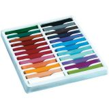 Quality Artist Square Pastels, Assorted Colors, 2-1/2 x 3/8, 24 sticks