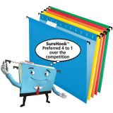 Pendaflex® SureHook® Reinforced Hanging Folders, 1/5 Cut, Assorted Colors, 20/box