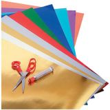 Metallic Foil Paper - 20 x 26 - 24 sheets - 3 each of 8 asstd colors