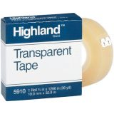 Highland Transparent Tape, 3/4 x 36 yds, 1 core