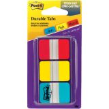 Post It® Durable Tabs, 3 Assorted Colors, 12 tabs/pad, 36/pkg