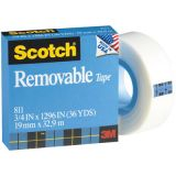 Scotch® Removable Tape No. 811, 3/4 x 1296