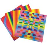Rainbow Weaving Mats, 12 patterns, 7 x 7, 72/pkg