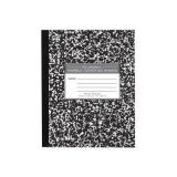 Barclay Marble Cover Composition Books - 1 dozen - Semi-Stiff Flexible Cover - 7 x 8-1/2 - Ruled with Margin - 80 pages