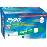 Expo® Dry Erase Markers, Bullet Tip, Green
