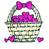 BASKET WITH HEARTS