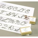 1½ UPPERCASE CURSIVE VISUAL CLOSURE ALPHABET